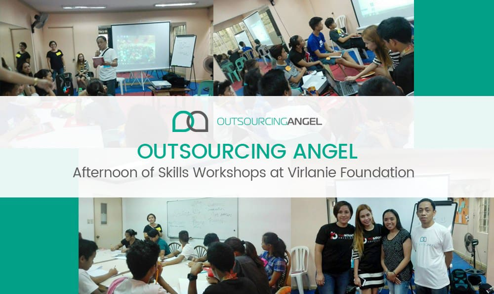 Outsourcing Angel Afternoon of Skills Workshops at Virlanie Foundation