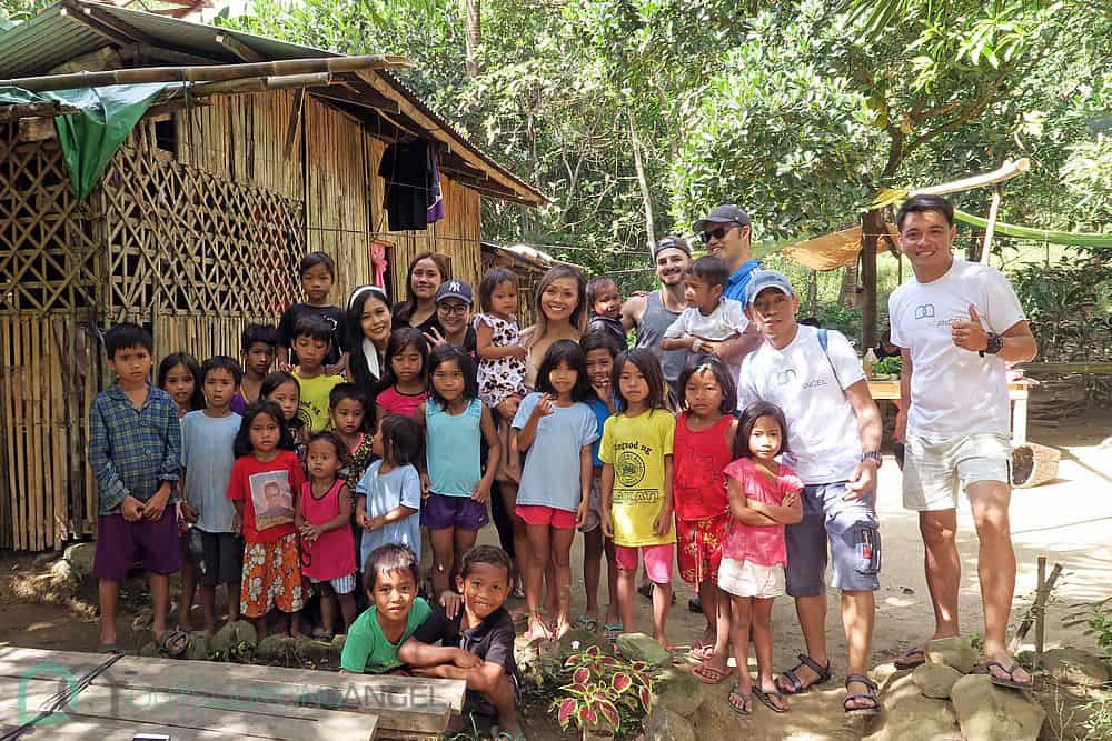The lovely kids of the Dumagat Tribe, the Outsourcing Angels team and Tnb sharing memories