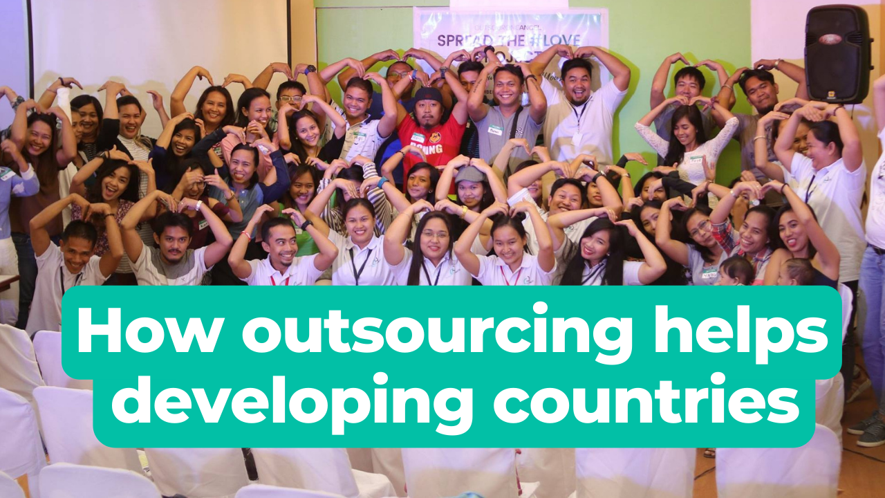How does outsourcing help developing countries?